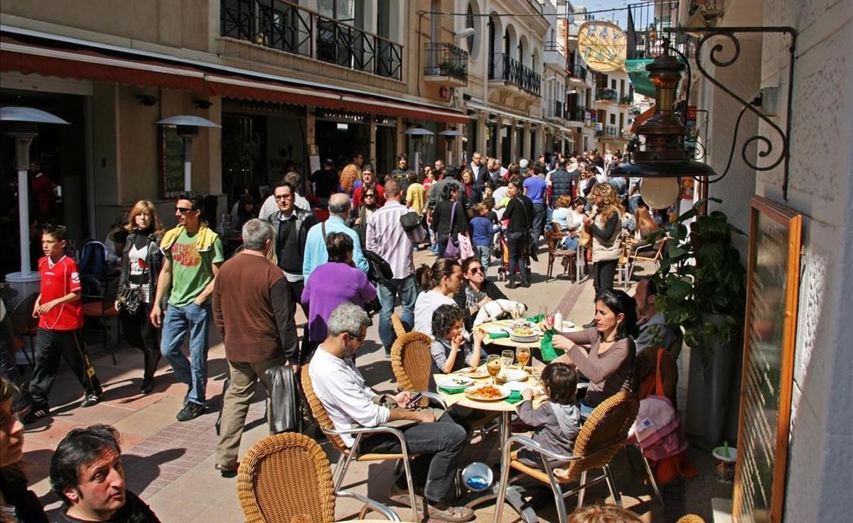 La calle del Pecat, en Sitges, en el 2010.