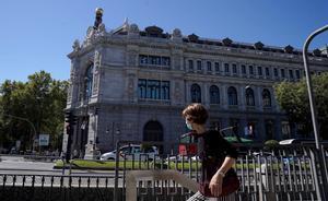 Sede del Banco de Espana  en Madrid.
