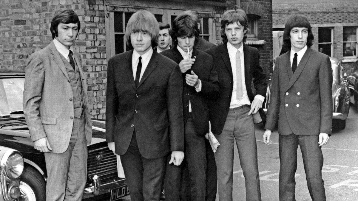 Charlie Watts,Brian Jones, Keith Richards, Mick Jagger y Bill Wyman, en Londres, en 1965.