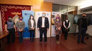 Acto de presentación del convenio entre el Ayuntamiento de Sant Boi y la Fundación Agbar