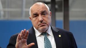 El primer ministro de Bulgaria, Boyko Borisov, a su llegada a la cumbre de Bruselas, este viernes.