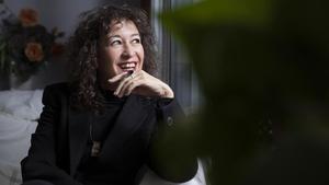 La cantante argentina Sandra Rehder, en Barcelona, esta semana.