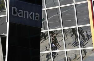 Fachadas de Bankiaen Madrid .
