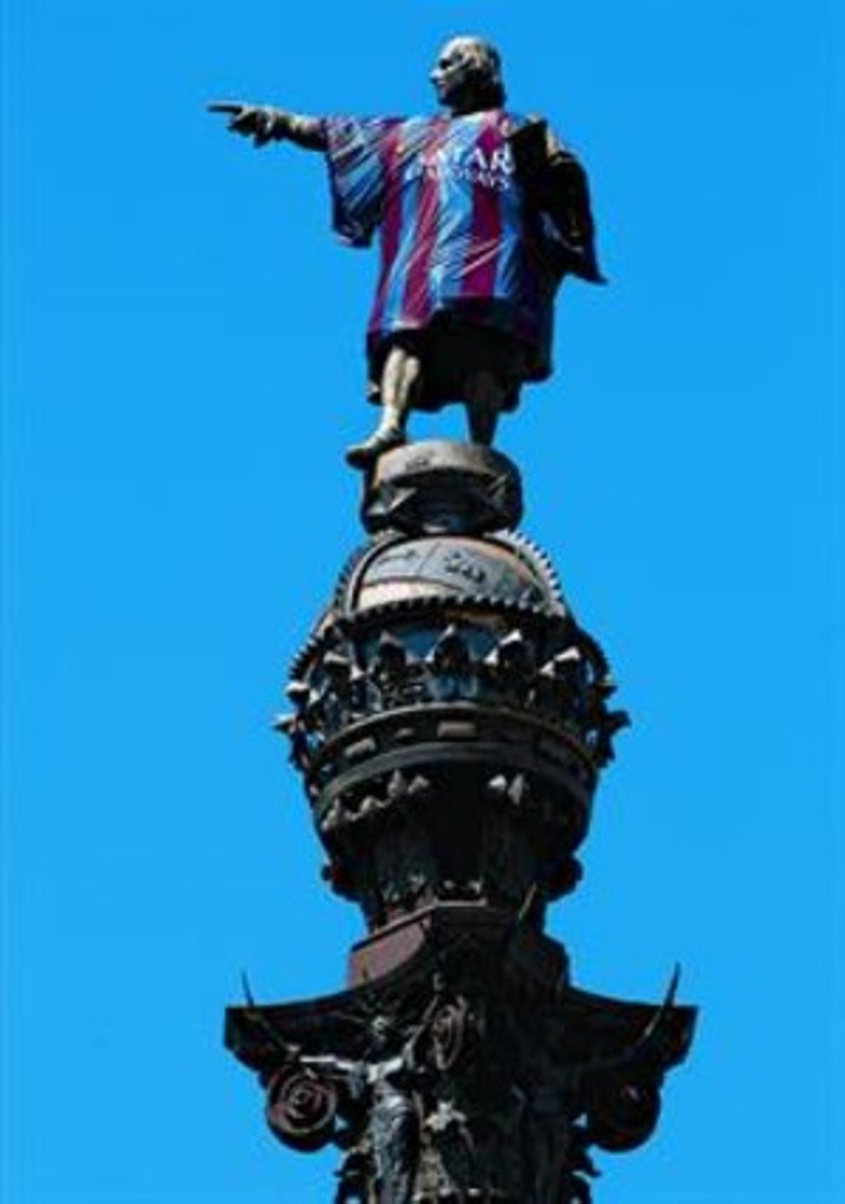Colón vestido del Barça