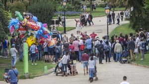 El parque de la Ciutadella, durante la Mercè del 2019.