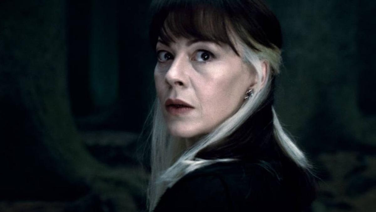 Helen McCrory interpretando a Narcissa Malfoy en la saga 'Harry Potter'
