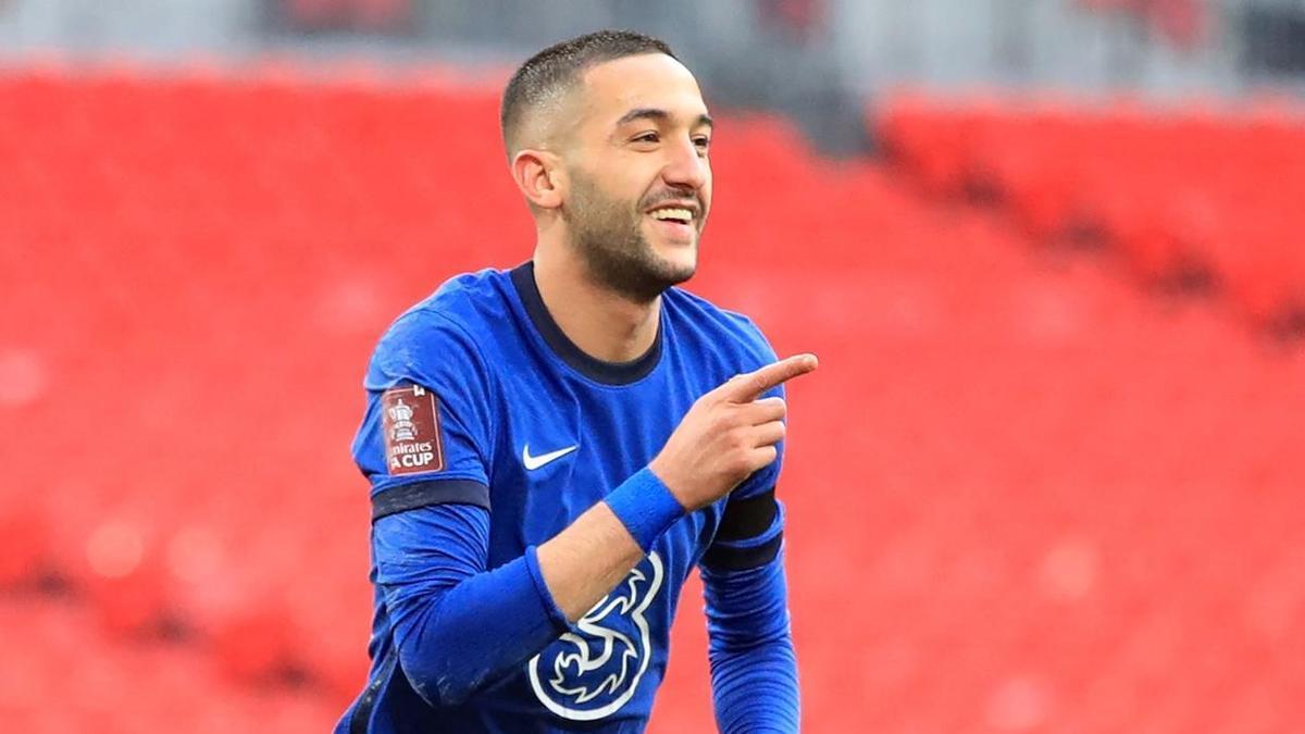 Ziyech celebra el único gol del partido.