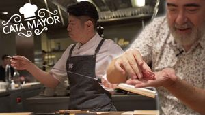 'Cata Mayor': 'nigiris' en el restaurante Koy Shunka.