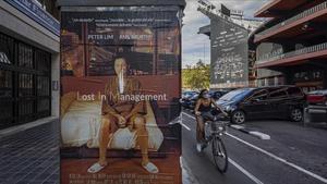 El cartel de la película 'Lost in Translation', retocado para criticar la gestión de Peter Lim como máximo accionista del Valencia