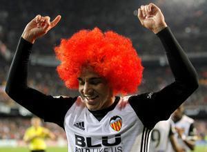 Rodrigo Moreno y su peluca.