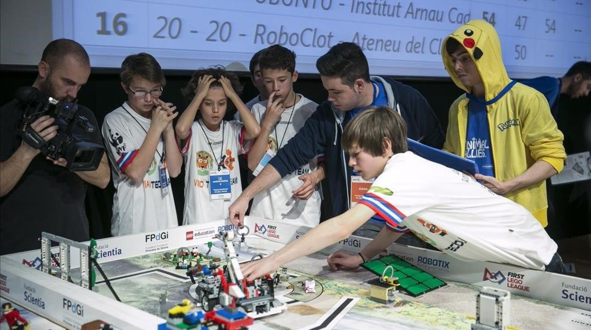 FIRST LEGO League en el Cosmo Caixa, en 2017