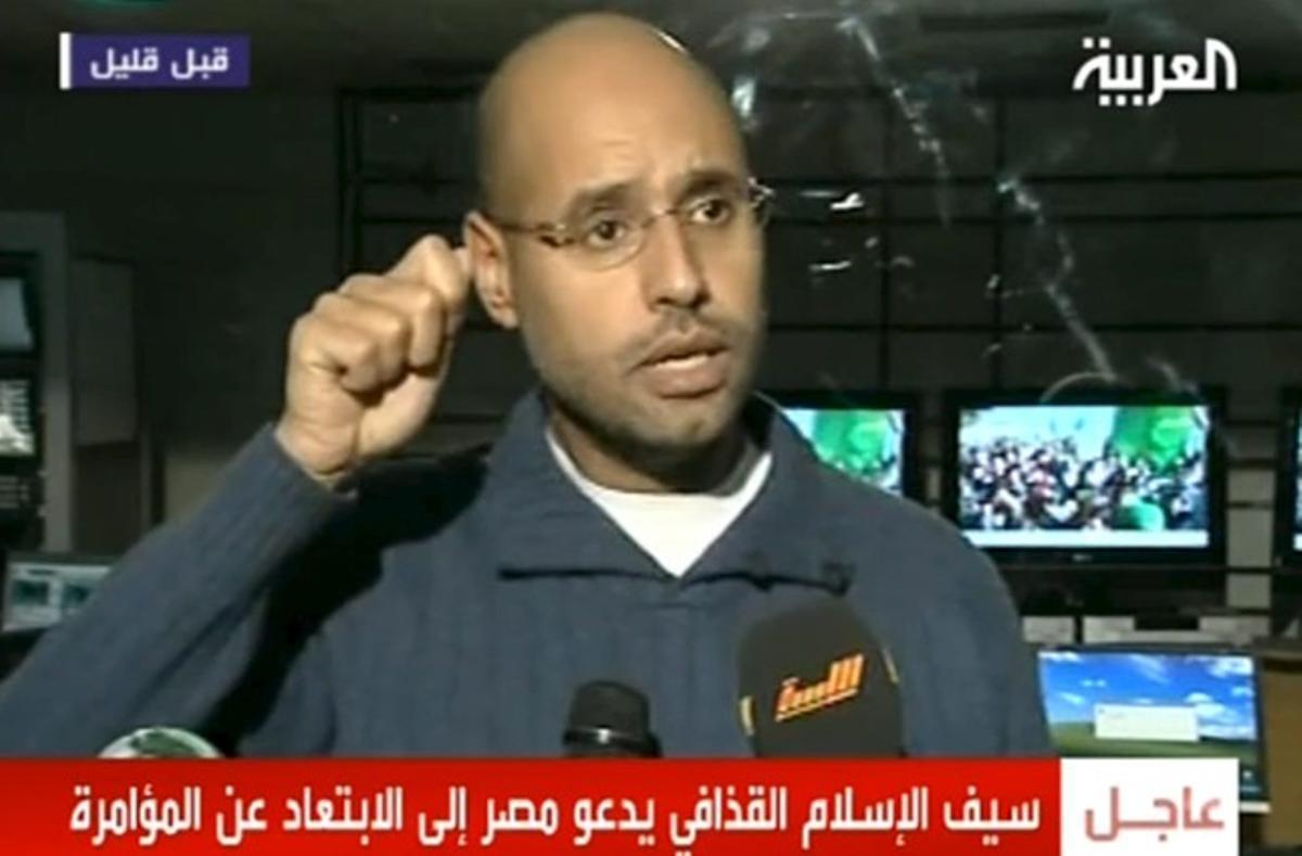Saif al Islam Gadafi, en declaraciones a la televisión estatal libia.