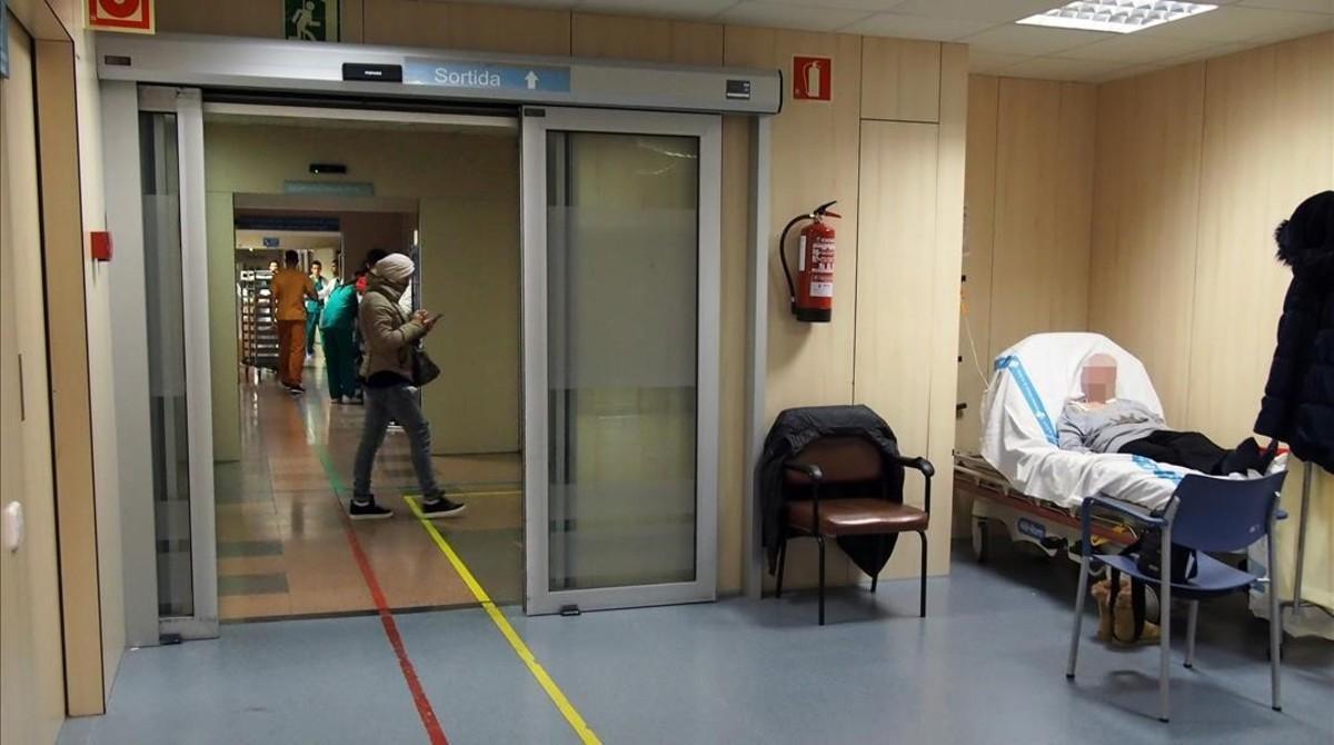 Pacientes en el Hospital del Vall d'Hebron.
