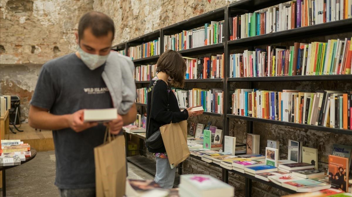 La librería Calders, en el barrio de Sant Antoni de Barcelona.