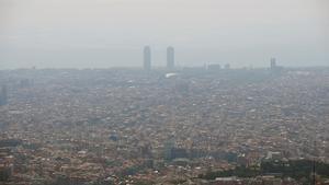 Imagen de archivo de la contaminación de Barcelona