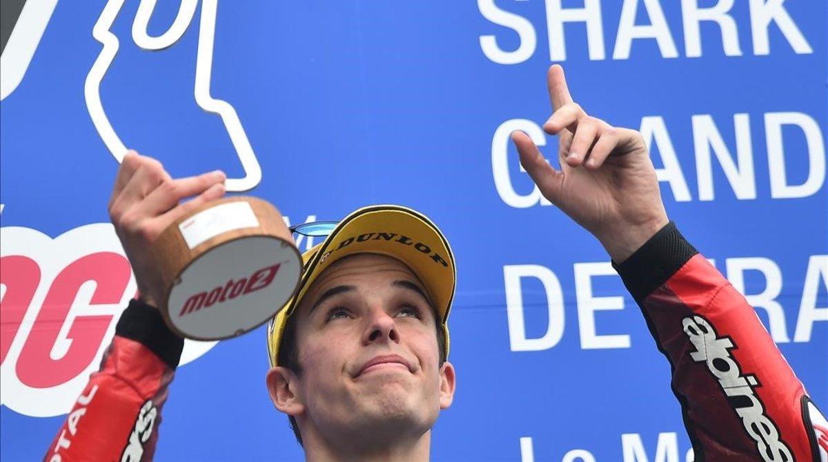 Àlex Márquez (Kalex) ha roto hoy, en Le Mans, una racha, suya y de los pilotos españoles, que no ganaban en Moto2 desde Japón-2017.