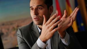 El vicepresidente de la Comunidad de Madrid, Ignacio Aguado, en una entrevista.