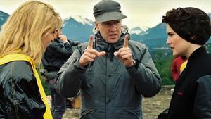 El cineasta David Lynch, durante el rodaje de la serie 'Twin Peaks'.