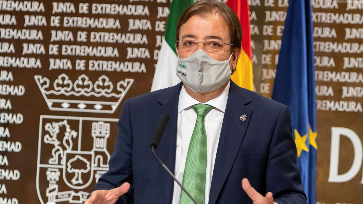 Rueda de prensa de Fernández Vara en Mérida