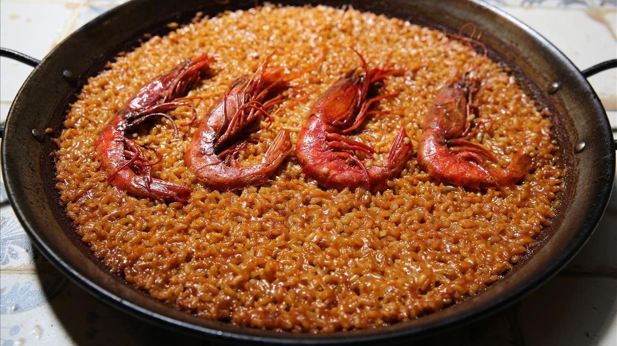 El arroz de carabineros de La Paella de Su.