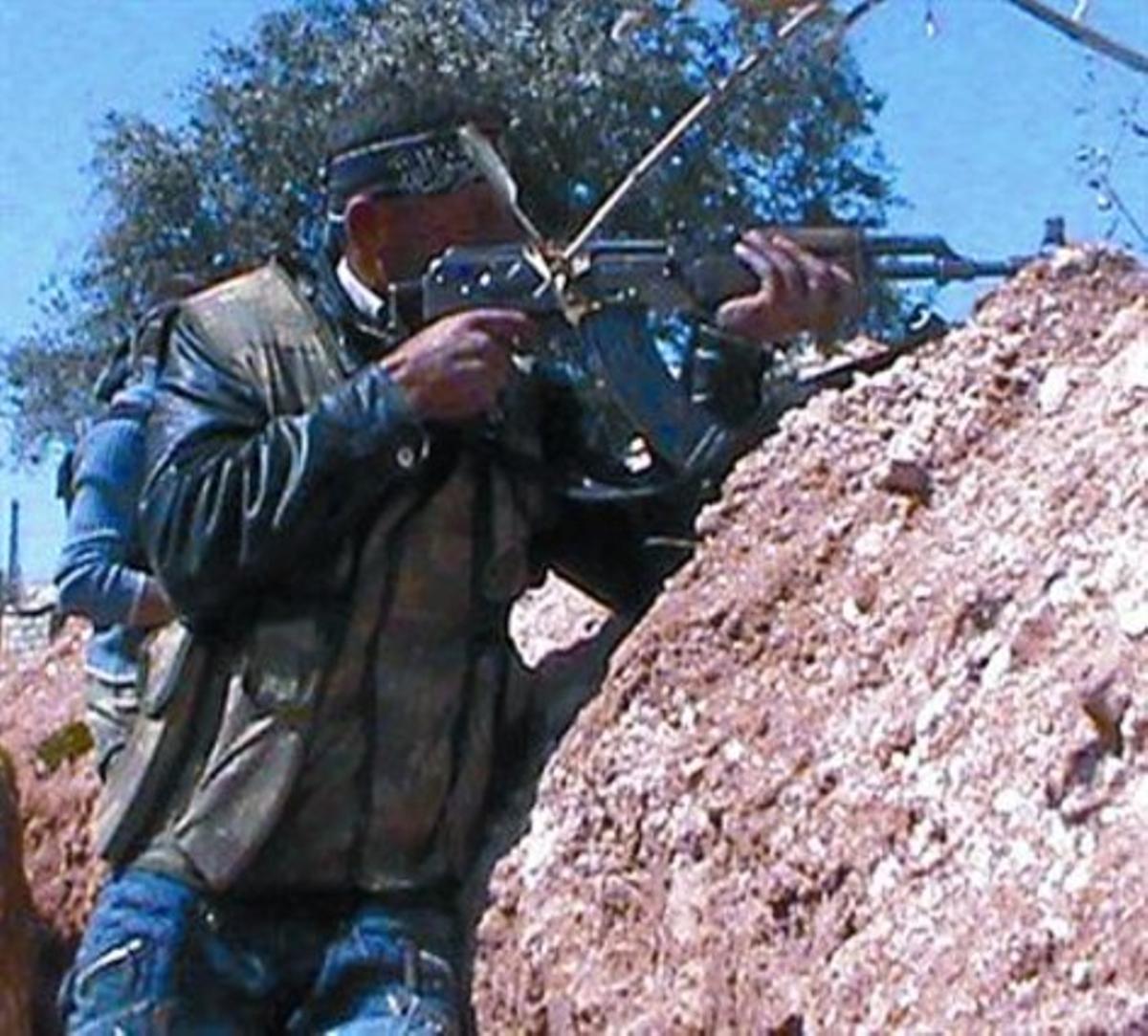 Trinchera rebelde en Al Jabha, en el centro de Siria, esta semana.