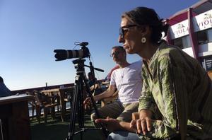 La periodista Ana Alba, durante el rodaje del documental 'Condenadas en Gaza'.