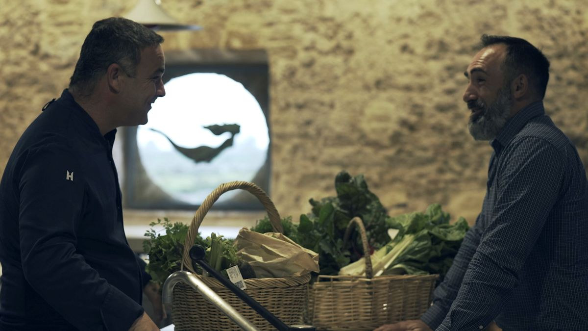 Ángel León y Rafa Monge, en el programa 'Productores con estrella', de Canal Cocina.