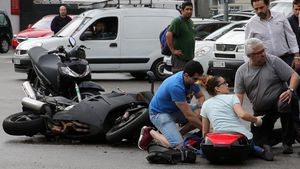 Imagen de archivo de un accidente de motoen Barcelona.