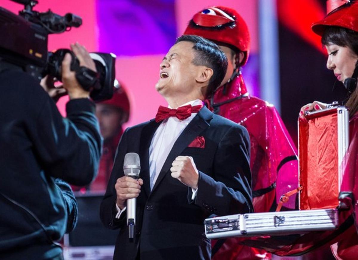 Jack Ma Yun, fundador de Alibaba, durante la gala del Día del Soltero en China, el año pasado..