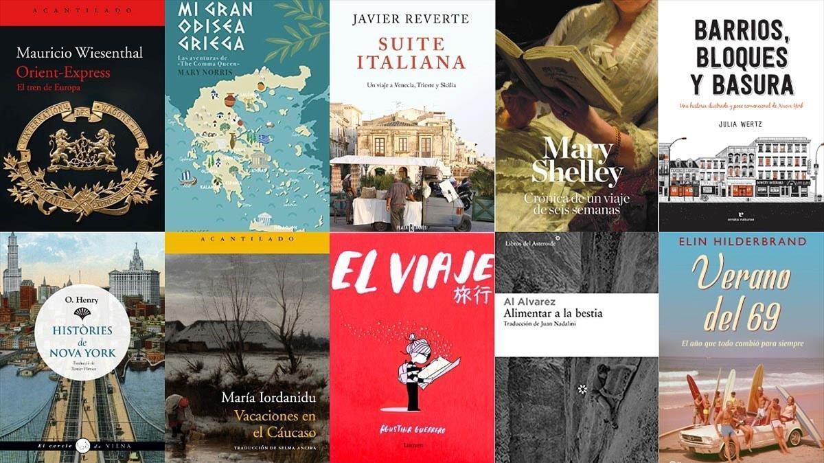 Portadas de algunos de los libros seleccionados.