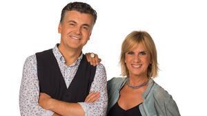 Ramon Gener y Gemma Nierga, presentadores de 'La Marató' de TV-3.