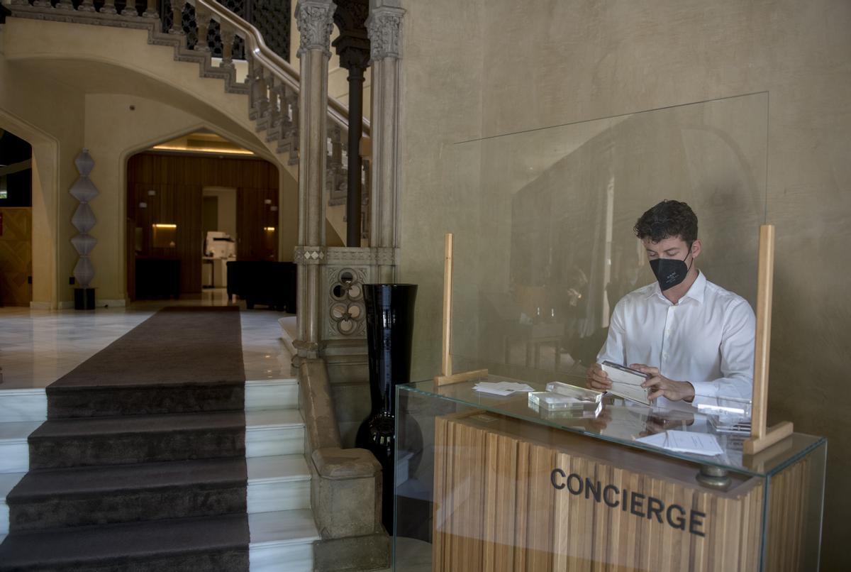 Entrada del Hotel Monument de Barcelona.