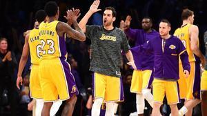 Calderón, con la camiseta de los Lakers.