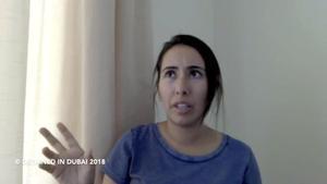 La princesa Latifa durante su mensaje en youtube.