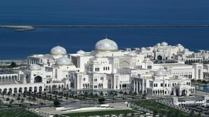 Vista del palacio presidencial de Abu Dhabi.