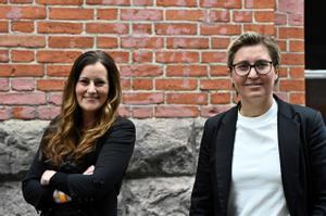 Janine Wissler y Susanne Hennig-Wellsow, las nuevas líderes del partido La Izquierda.