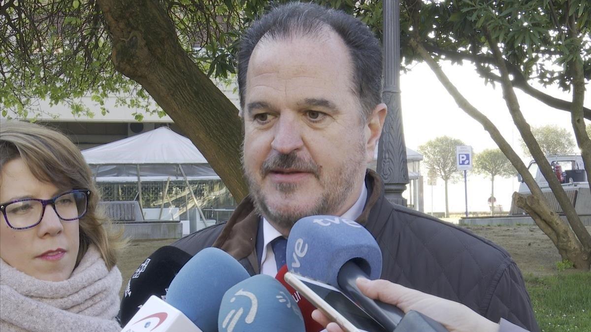 Carlos Iturgaiz, este lunes, en Bilbao.