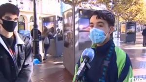 Limpieza tras los disturbios de ayer en Logroño
