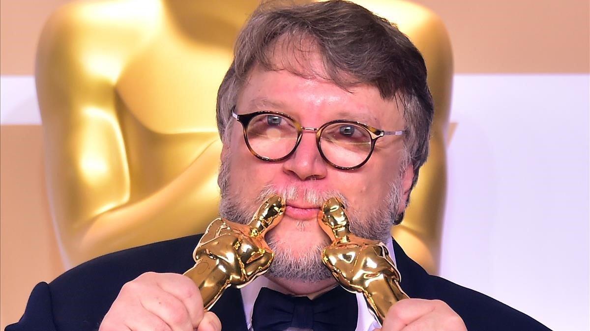 El director mexicano Guillermo del Toro, en la entrega de los Oscar, el pasado mes de marzo.