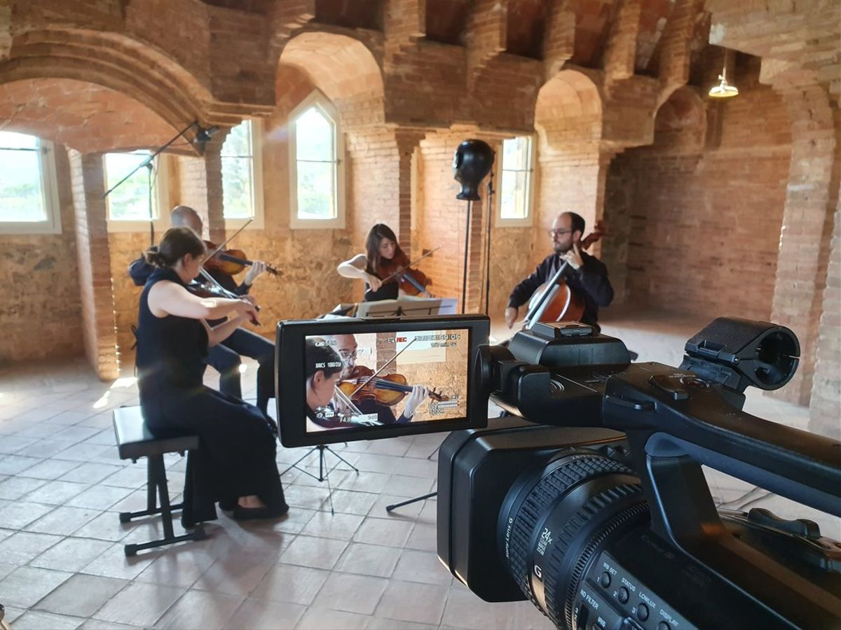 Grabación del concierto de Cosmos Quartetque se estrena hoy.