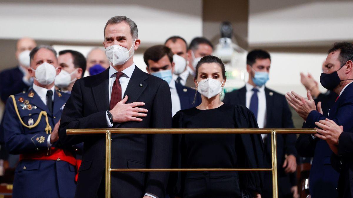 Los Reyes durante el acto por las víctimas del terrorismo.