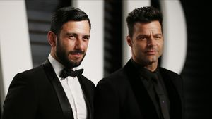 Ricky Martin junto a su prometido, Jwan Yosef