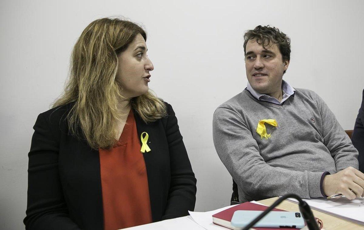 Marta Pascal y David Bonvehí, cuando compartían siglas en el 2018.