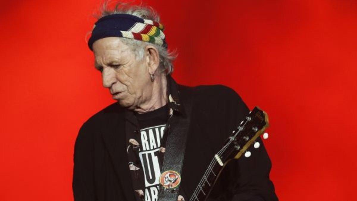 Keith Richards, guitarrista de los Rollling Stones.