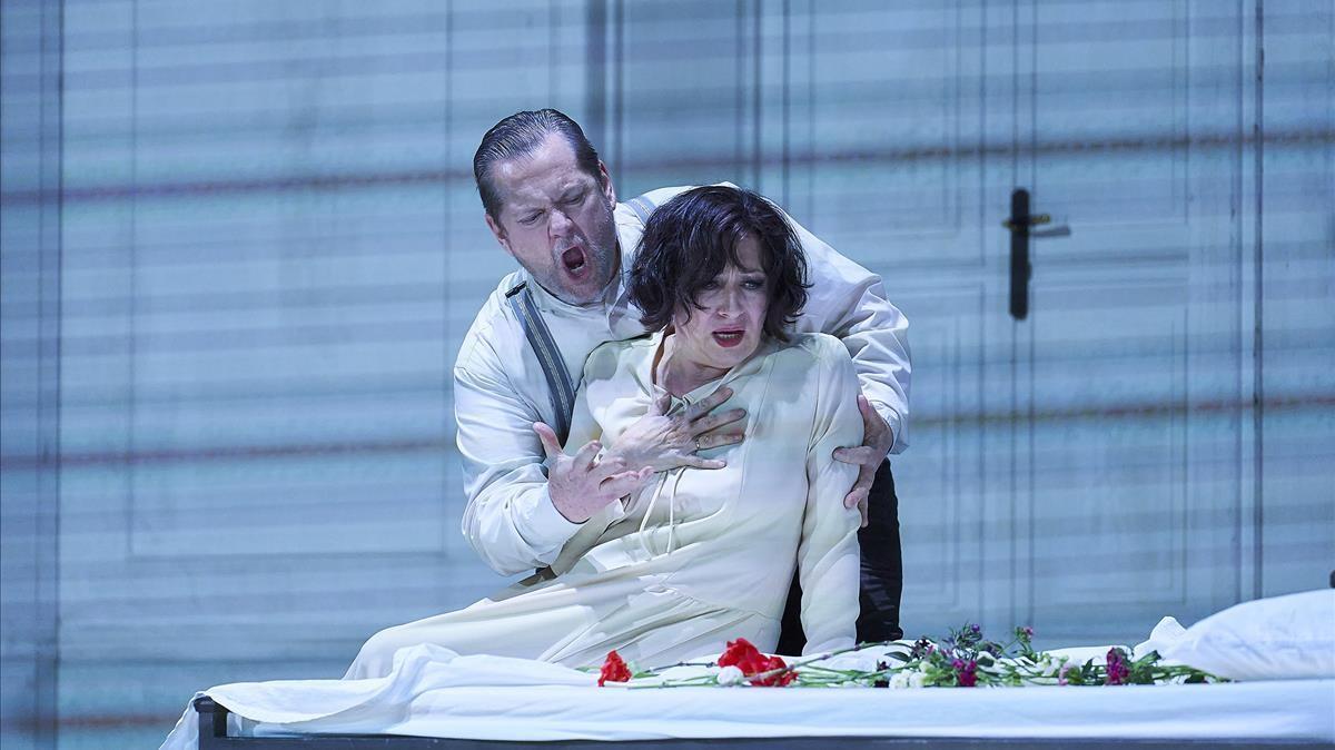 Krassimira Stoyanova y Greg Kunde en su representación de la ópera 'Otello' en el Liceu