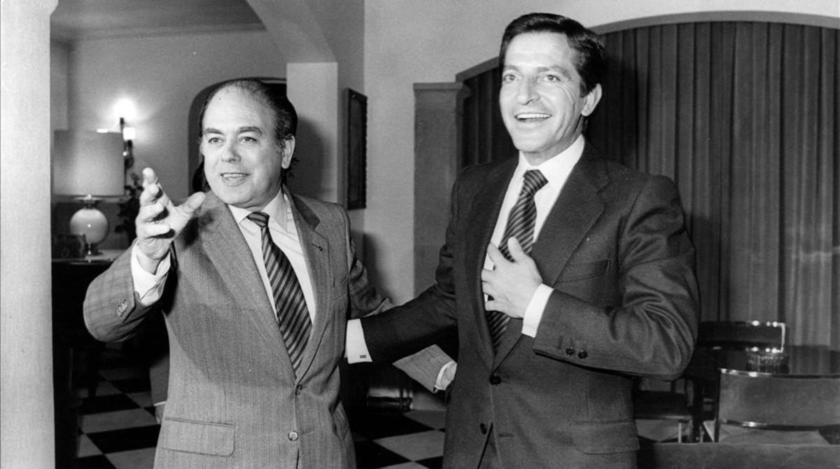 Jordi Pujol y Adolfo Suárez, en un areunión de 1981.