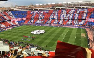 El estadio Vicente Calderón.