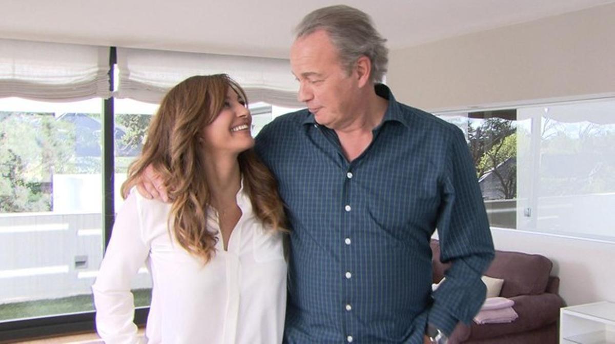 Mariló Montero y Bertín Osborne, en el programa de TVE-1 'En la tuya o en la mía'.