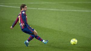 Griezmann, durante el partido del Barça con la Real Sociedad.