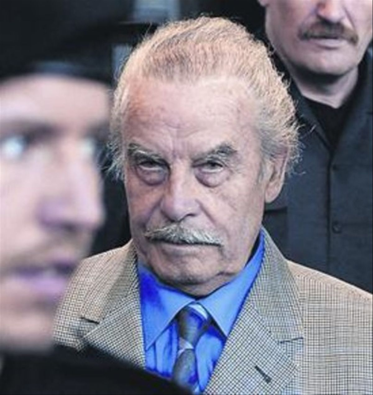 Josef Fritzl, conocido como el 'monstruo de Amstetten', a su llegada al juicio, en marzo del 2009.